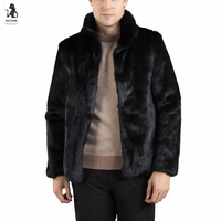 Fashion Mens Warm Overcoat Thick Coat Jacket Faux Fur Parka Outwear Cardigan