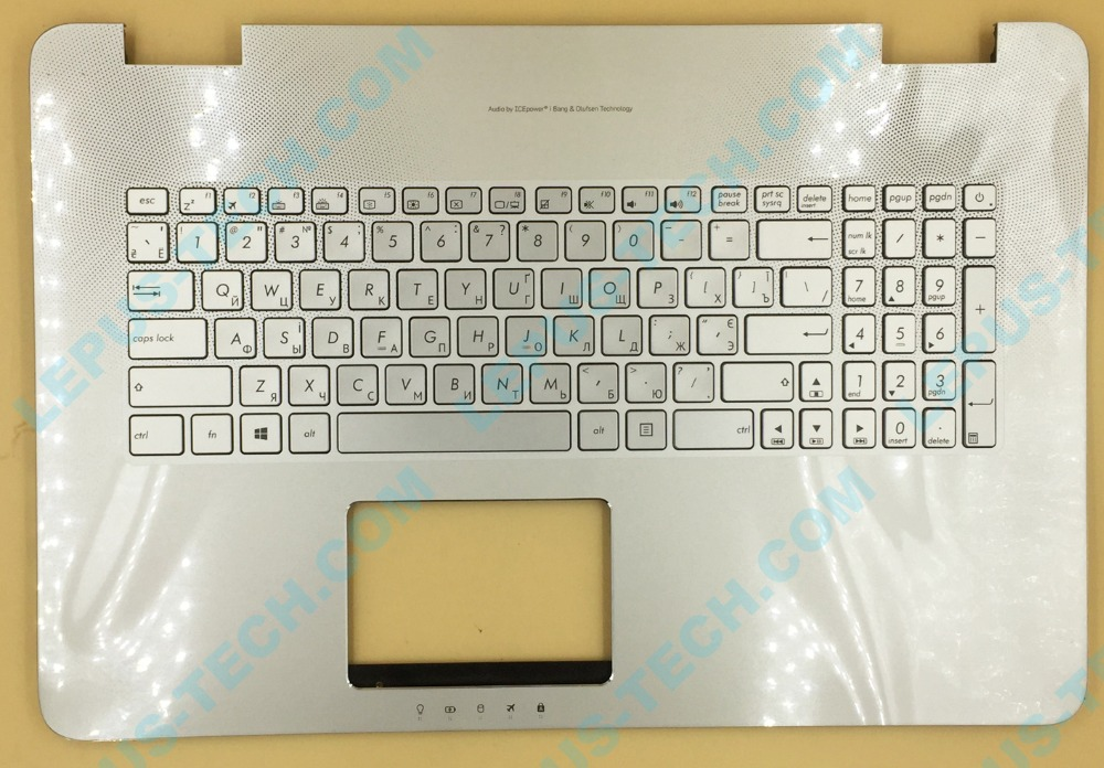 Russian RU layout for ASUS N751 N751JK G771 GL771 backlit keyboard with palmrest top case backlight все цены