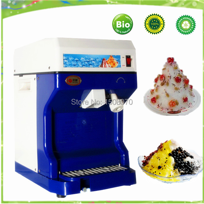 free shipping 220v Commercial ice shaving machine font b electric b font block ice crusher snow