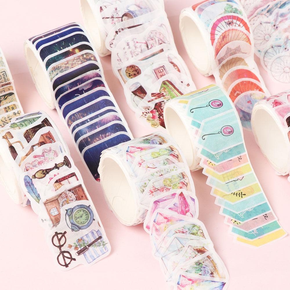 80PCS Flower Petals Washi Tape DIY Decorative Scrapbooking Masking Tape Adhesive Label Sticker Tape Stationery