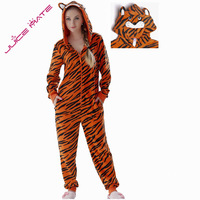 Plus Size Fleece Tiger Pyjamas Women Onesie Animal Costumes Overall Jumpsuits Tiger Coverall Pajamas Onesie For Adult Women Men