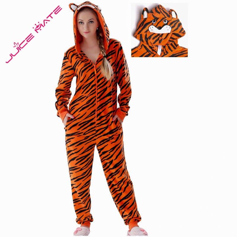 Plus la Taille Polaire Tigre Pyjamas Femmes Point Onesie Animal Costumes Combinaisons Couple Combinaison Pyjamas Onesie Pour Adulte Kingurumi