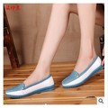 Promotions!!2014 autumn mother work shoes genuine leather women single shoes Slip-on Ballet Flats Comfort Anti-skid nurse Shoes