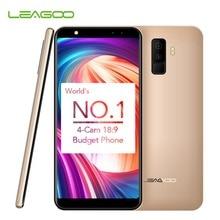 """Leagoo M9 5.5 """"18: 9 Teljes képernyős négy kamera Android 7.0 MT6580A Quad Core 2 GB RAM 16 GB ROM 8.0 MP Ujjlenyomat 3G WCDMA mobiltelefon"""