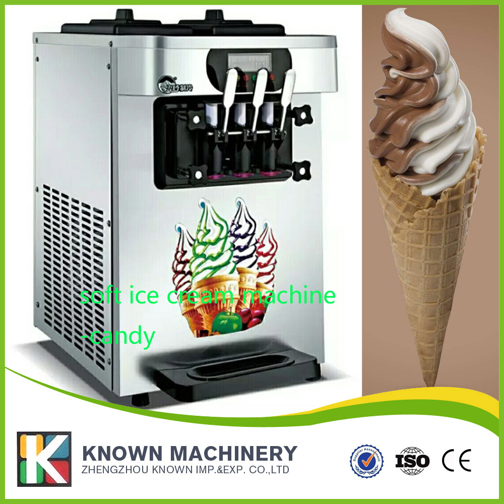 3 Flavors Desktop Small Automatic Drum Ice Cream Machine (ship by sea free with CFR term)3 Flavors Desktop Small Automatic Drum Ice Cream Machine (ship by sea free with CFR term)
