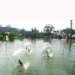 2 м диаметр Забавный развлекательный водный мяч, надувной водный ходячий шар Зорб мяч, для 1-2 человек