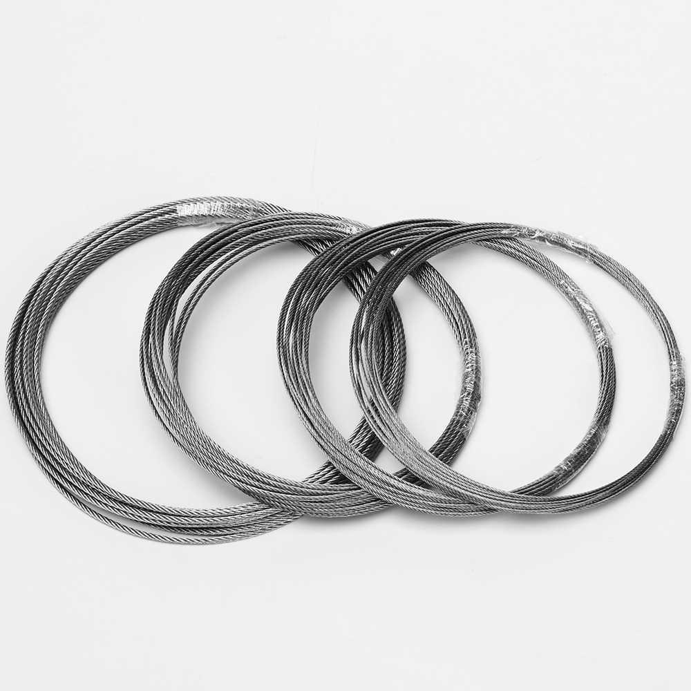 3 м 304 из нержавеющей стальной трос alambre мягче Рыбалка подъемный кабель 7X7 Структура 1 мм 1,2 мм 1,5 мм 2 мм