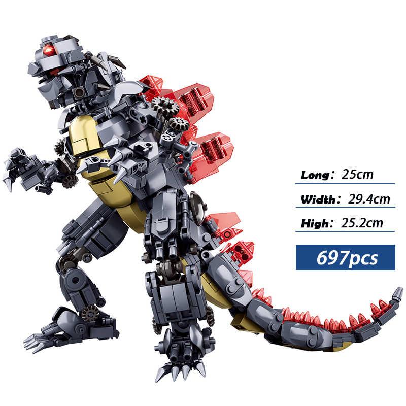Serie de películas rey de los monstruos modelo bloques de construcción DIY ladrillos juguetes educativos para niños regalos de cumpleaños Compatible legos