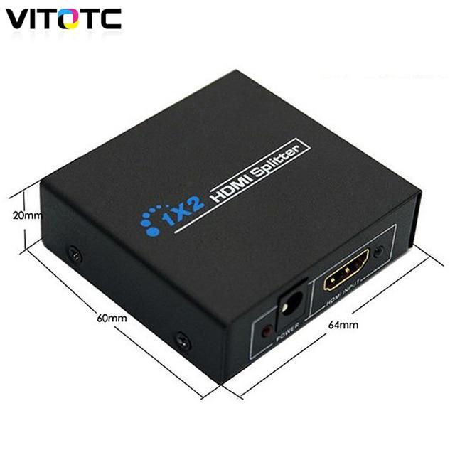 HDMI 1.4 1 in 2 out 1080p HDMI Splitter 1x2 Splitter Power Signal Amplifier NEW Original Box 1.3B 1.4 Compliant DVD Player