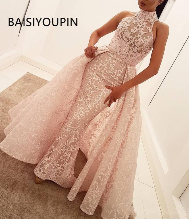 Arabic Yousef aljasmi Formal   Dresses   Party Wear Evening Gowns cheap   prom     dress   pageant   dresses   Lace robes de demoiselle
