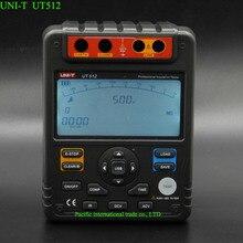 UNI-T UT512 Цифровой Изоляции Метр Тестер Сопротивления Мегаомметр Низкий Ом Омметр Вольтметр Авто Диапазон 2500 В Usb Интерфейс ом