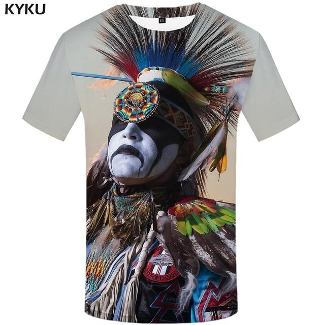d7d820f2e0fc8f 3d Tshirt Indians T-shirt Men Feather Anime Clothes Colorful Shirt Print  Graffiti Tshirt Printed Native American T-shirts 3d