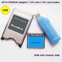 CF carte 2 GB à PCMCIA CARTE adaptateur et lecteur de carte CF 3 en 1 combo pour L'industrie Fanuc mémoire utiliser