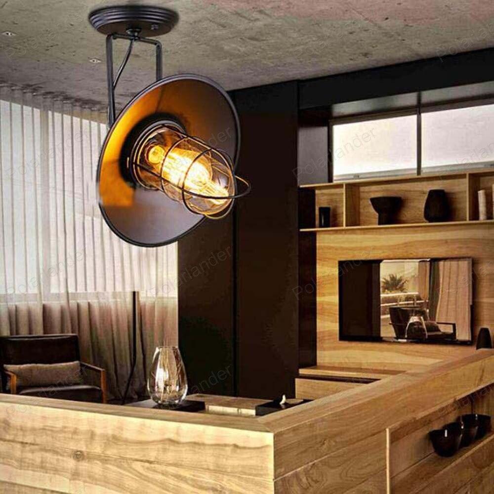 Industrial Wall Light Bedroom: Industrial Wind Style Bird Cage Wall Lamp Bedroom Bedside