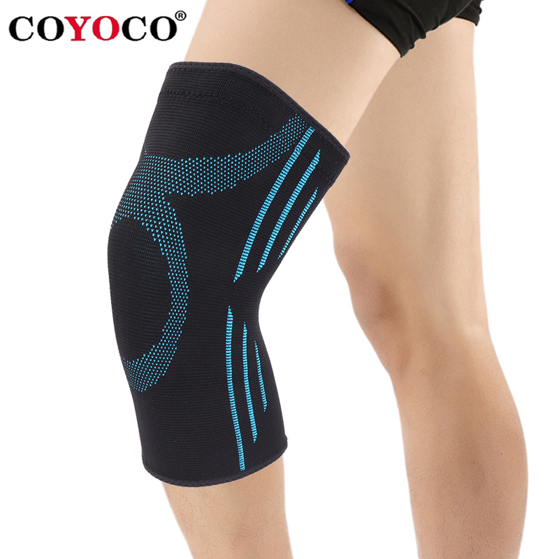 COYOCO 1 stücke Knie Unterstützung Klammer Warme für Arthritis Meniskus Reißen Sport Joint Pain Relief und Verletzungen Recovery Himmel Blau kneepad