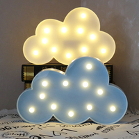 Flaky Clouds Shaped Fairy Nightlight ABS Plastic Led Table Desk Lamp Room Atmosphere Wedding Decoration Creative