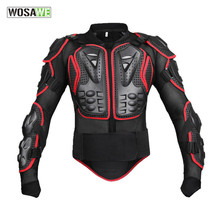 Wosawe New model Professional Motorcycle Body Protector Motocross Racing Full Body Armor Spine Chest Protective Jacket Gear