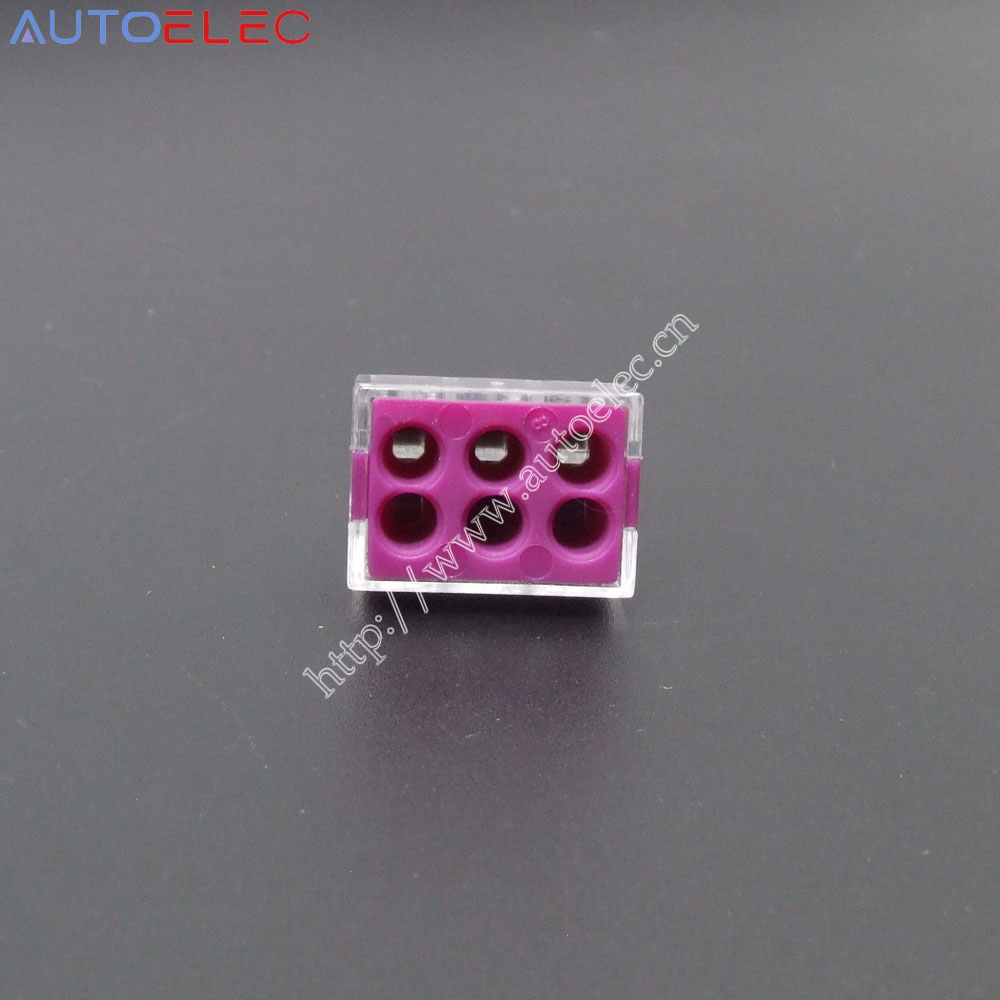 100Pcs VSE-106 Push wire connector For Junction box 6 pin PCT-106 conductor wago 773-106 cable