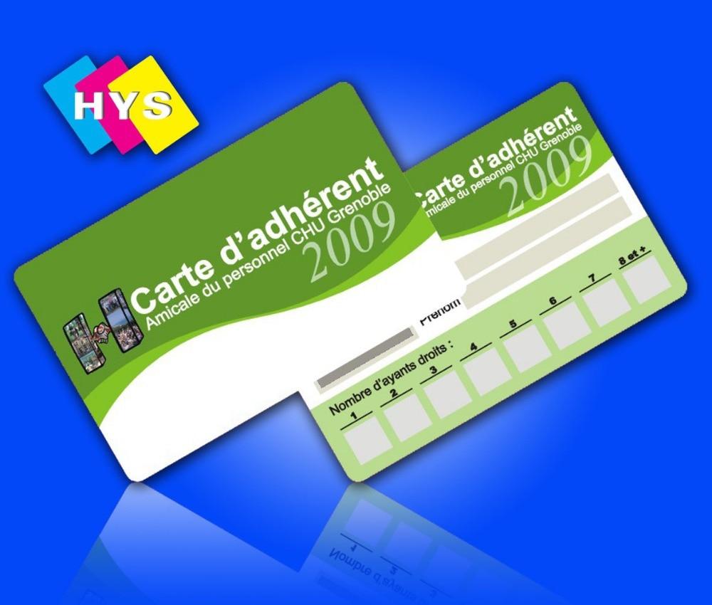 En Plastique Carte De Fidelite Et Visite Impression Dans IC ID Securite Protection Sur AliExpress