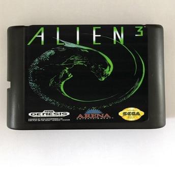 Top quality 16 bit Sega MD game Cartridge for Megadrive Genesis system — Alien 3