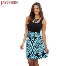 63fe0a2e3d3 Dress Women 2018 1PC Sexy Women Damask Printing Sleeveless Party Mini Club  Beach Dresses 0716(