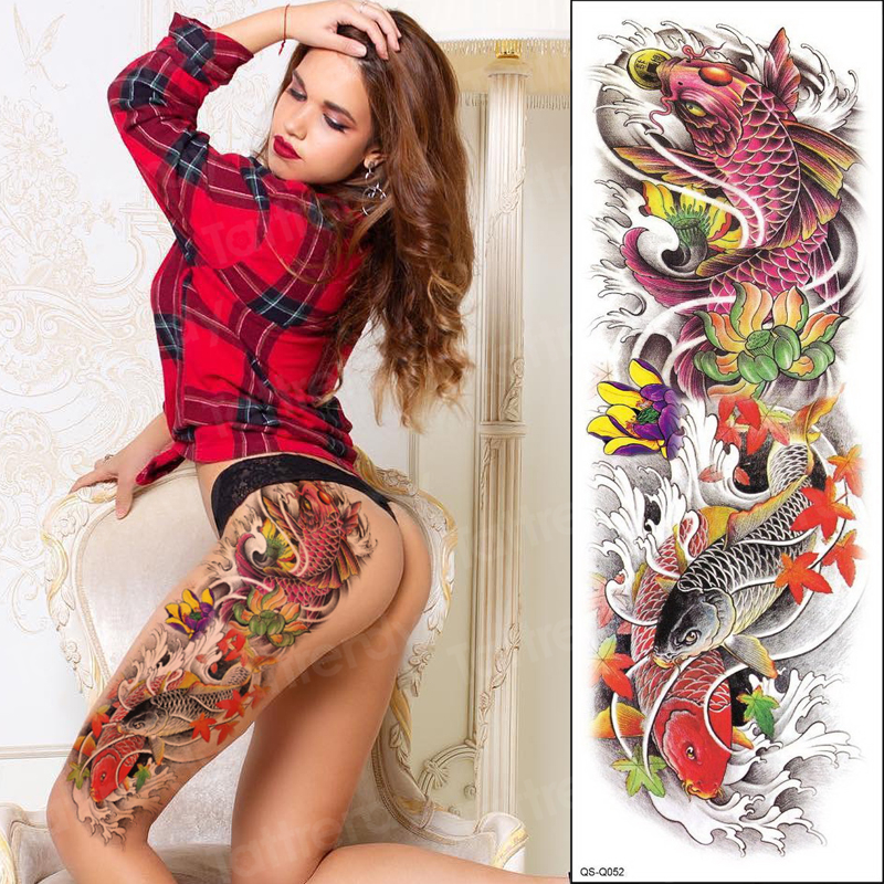 Temporary Tattoo Full Arm Sleeve Sexy Tattoo For Women Stickers Body Large Arm Sleeve Tattoo Waterproof Transfer Tattoo Art Mens