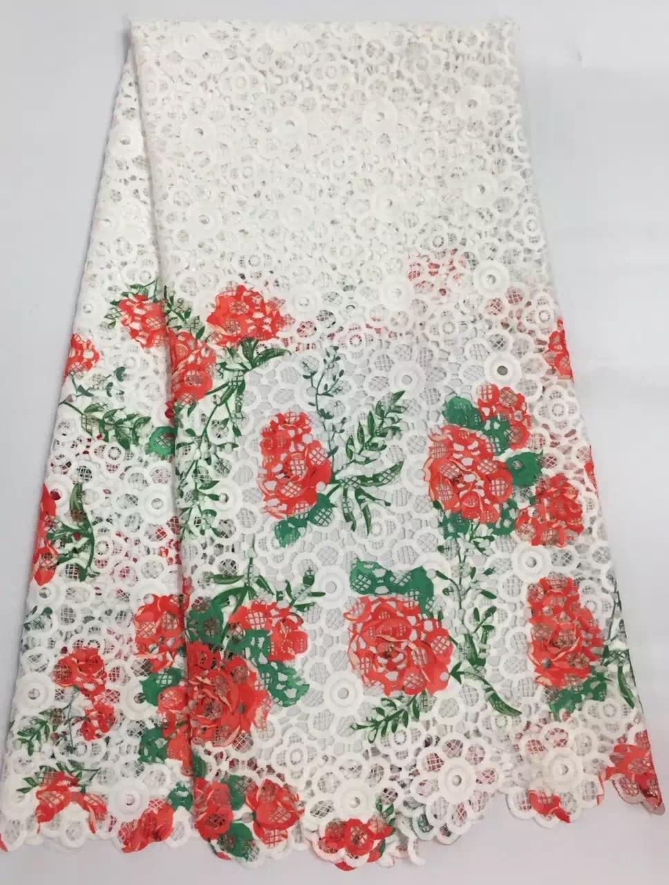 Tessuto di seta del merletto della stampa del cavo della guipure del - Arti, mestieri e cucito