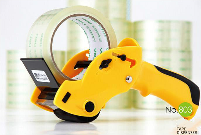 DELI 803 tape dispenser  tape cutter baler tape width 6cm lasting impressions 3118rd