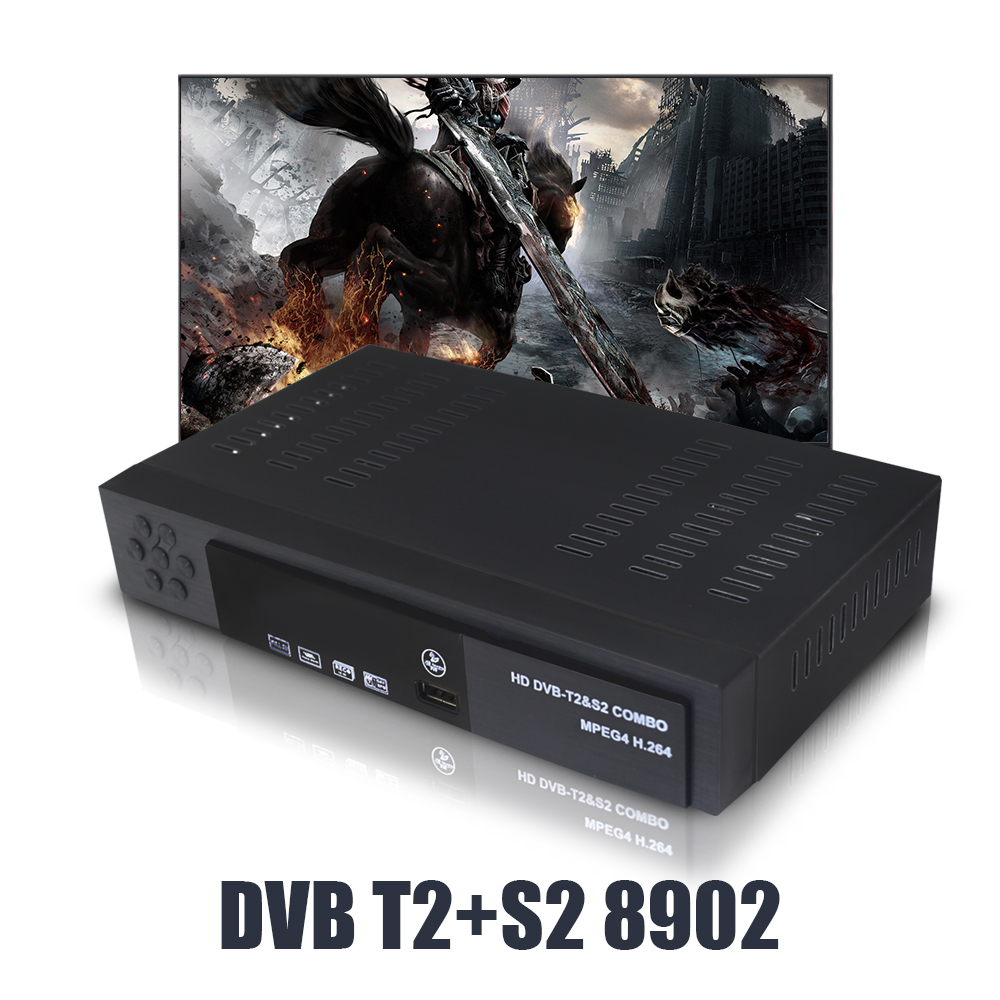 DVB T2 DVB S2 Combo Fully HD Digital TV Tuner Receptor DVB T Terrestrial Satellite TV Receiver Support BISS KEY Set Top box-in Satellite TV Receiver from Consumer Electronics