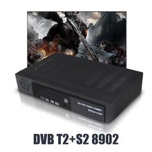 DVB-T2 DVB-S2 Combo Fully HD Digital TV Tuner Receptor DVB-T Terrestrial Satellite TV Receiver Support BISS KEY Set Top box koqit tv tuner dvb t2 hd dvb t2 digital terrestrial receiver tv box fta receptor convertor vhf uhf antenna 1080p set top box