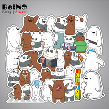 36pcs We Bare Bears Cartoon Sticker Cute Panda Lovely Waterproof Suitcase Boxes Laptop Guitar Luggage Bicycle Toy Cute Stickers  art