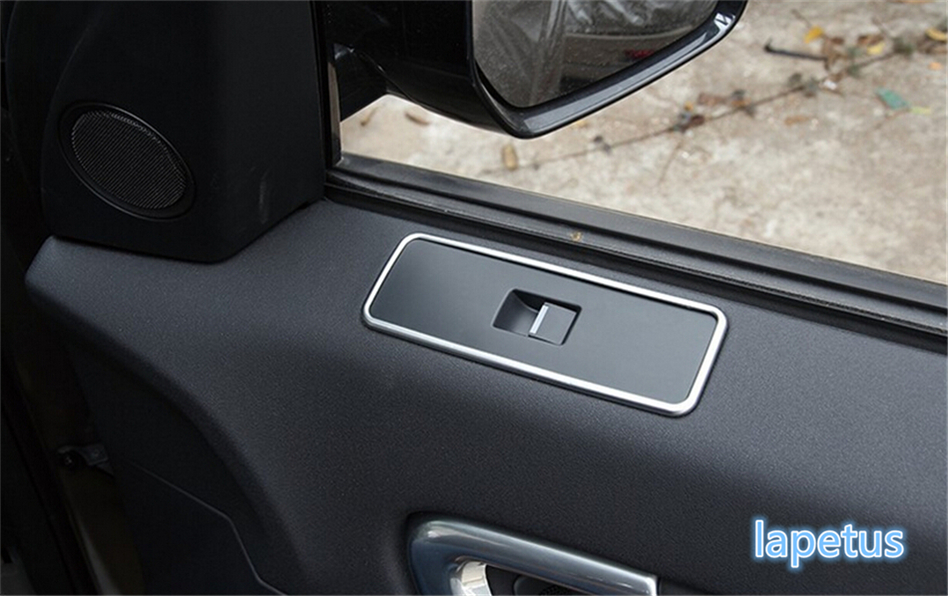Lapetus ABS Door Window Lift Switch Mirror Control Button Decoration Frame Cover Trim For Land Rover Discovery Sport 2015 2019 in Interior Mouldings from Automobiles Motorcycles