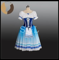 2017 New Arrival Giselle Skirt Lace Costumes Girls Cinderella Skirts Adult Romantic Tutu Velevt Blue Color 5 layers Tulle AT1243