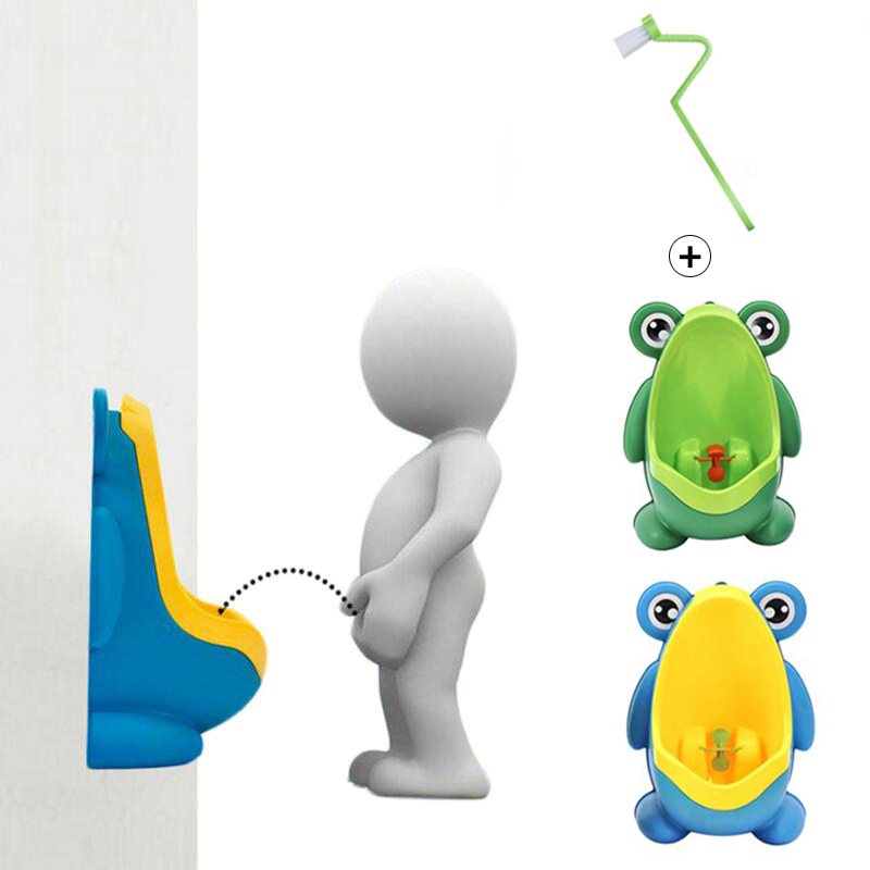 New Arrival Baby Boy Potty Toilet Training Frog Children Stand Vertical Urinal Boys Penico Pee Infant Toddler Wall-Mounted baby cartoon crown training toilet potty girl boys travel carrying urinal pee toilet trainer penico babies girl bathroom urinals