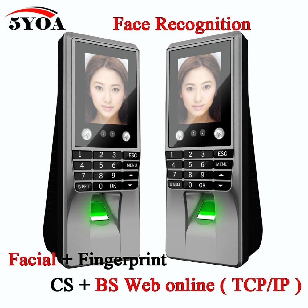 Biometric Facial Face Recognition Fingerprint Password Key Access Control Device Attendance Machine Door Lock System Electronic цена