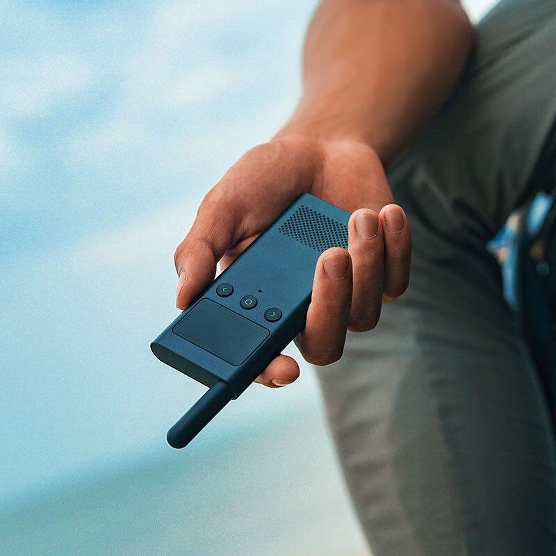 Original Xiaomi Mijia Smart Walkie Talkie smart con altavoz de Radio FM en espera la ubicación de la aplicación del teléfono inteligente comparte la conversación rápida del equipo nuevo - 4