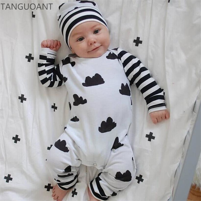 21523331cbdd TANGUOANT hot sale new baby romper Long sleeve baby boy girl clothes ...