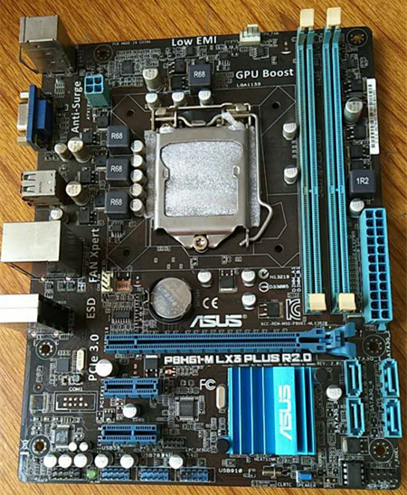 Original P8H61M LX3 PLUS R2.0 H61 motherboard supports DDR3 1155 I3 I5 I7 Integration msi original zh77a g43 motherboard ddr3 lga 1155 for i3 i5 i7 cpu 32gb usb3 0 sata3 h77 motherboard