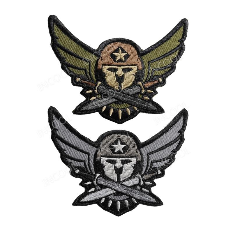 3d Spartan Medic Tactical Embroidered Military Emt Morale Badge Badges