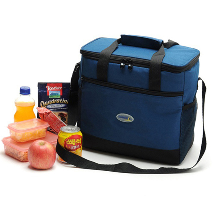 New High quality thermal cooler bags shoulder bag vehicle double layer insulation bag food storage cool ice bag thermo pack 16L กระเป๋า กัน ความ ร้อน