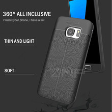 ZNP Luxury Shockproof Matte Leather Carbon Fiber Cover Case For Samsung Galaxy S6 S7 Edge A8 A3 A5 A7 J5 J7 2016 2017 Phone Case