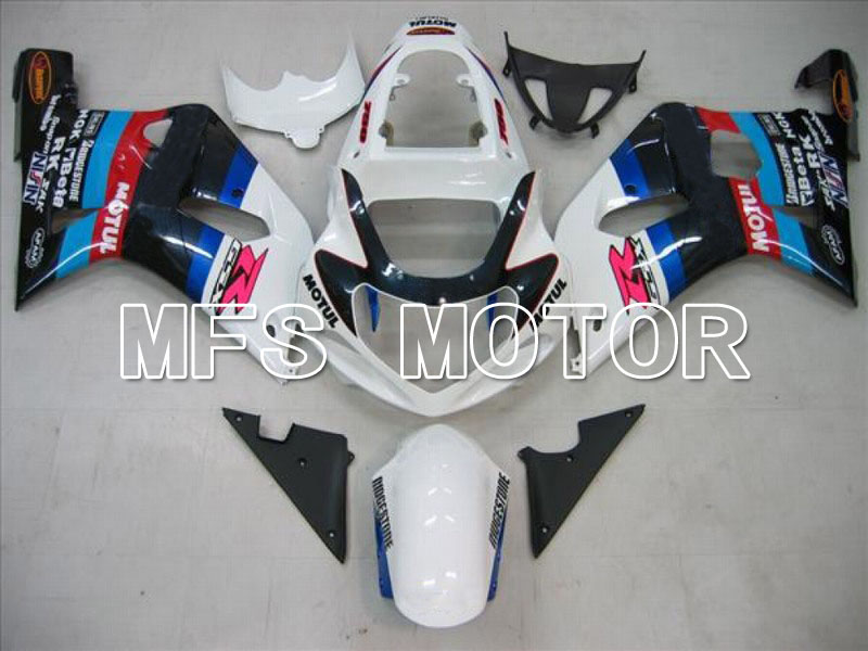 Mold For Suzuki GSXR600/750 K1 K2 2001 2002 2003 01 02 03 Injection ABS Fairing Kits -  Motul - White/Black plastic injection mold for car monitor shell in 2 cavities
