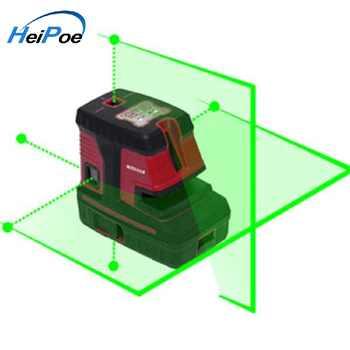 2 linie 5 punkte grüne Strahl Laser level, Selbst nivellierung Kreuz dot Linie Laser Ebene, kreuz linie laser ebene
