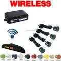 Car LED Monitor Buzzer 4 Sensors Wireless Parking Sensor Backup Radar Black Silver Blue Gray Wihte Red Gold Yellow Orange #CA882