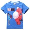Hero 6 4y-10y grande camiseta de los muchachos embroma la camiseta del bebé Ropa de verano Niños de la Historieta t Shirt Roupas Infantis Menino Vetement Garcon