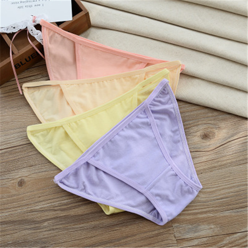 Kids Thong Underwear Breathable Cotton Calcinha Infantil Young Girl G String   Panties   Teenage Children's Thongs