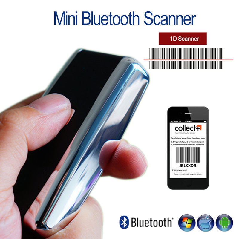 S01 CCD Scanner 1D Wireless 1D Bluetooth Screen Barcode Scanner Handheld 50 Meters Visual Range Reader For IOS And Android Phone caribe pl 40l ip65 rugged industrial mobile bluetooth pda 1d barcode scanner android 5 1