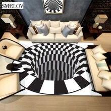 3d print carpet Luxury carpet floor mat rug White Black Abstract Geometric Optical Illusion Living Room bedroom bedside Area Rug недорого
