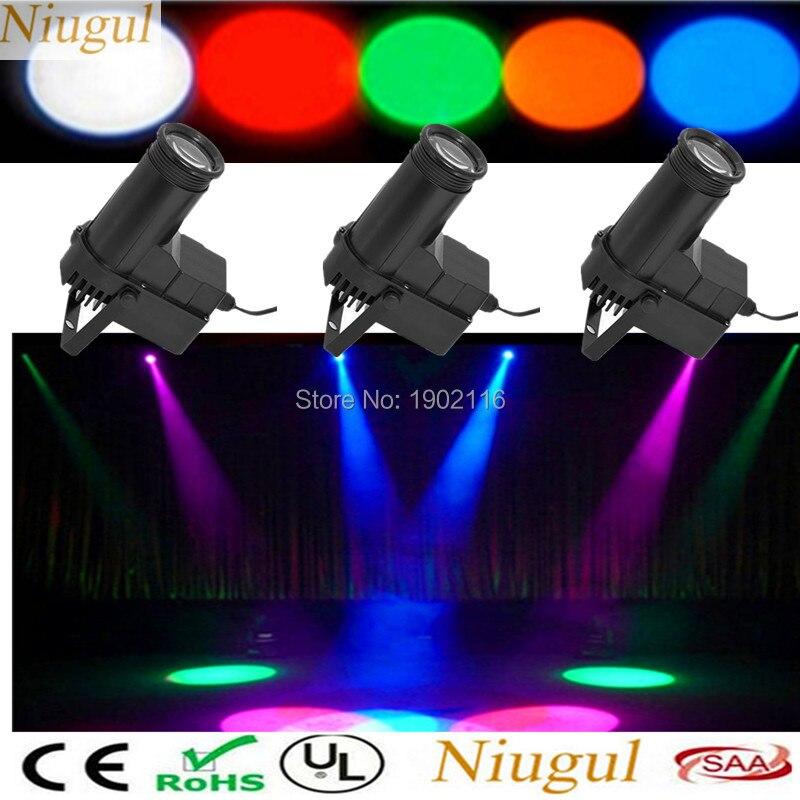 3PCS IR Remote control Mini Stage lights RGB LED Beam light for party Disco KTV mirror ball pinspot light LED DJ spotlight lamp