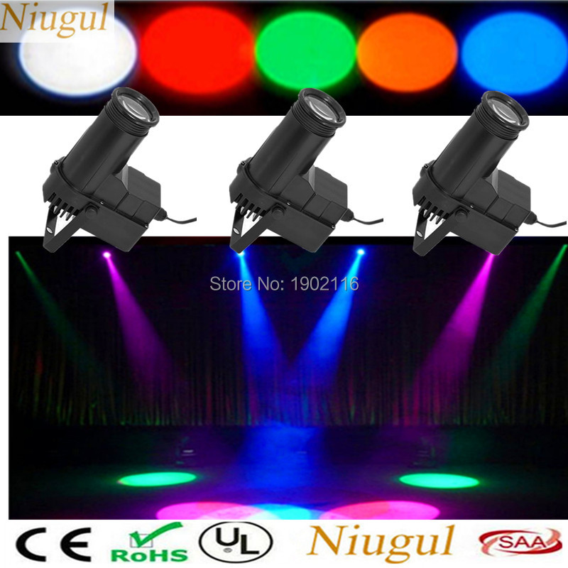 3PCS IR Remote control Mini Stage lights RGB LED Beam light for party Disco KTV mirror ball pinspot light LED DJ spotlight lamp new energy saving creative small spotlight led remote control for cabinet light mirror lamp search light bed table light